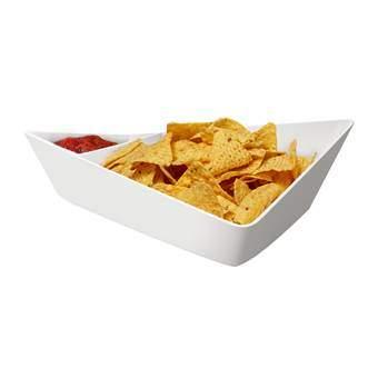 Black+Blum Forminimal Schaal Chip and Dip Servies Wit Kunststof