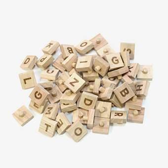 Block Pegboard Letters Wanddecoratie & -planken Beige
