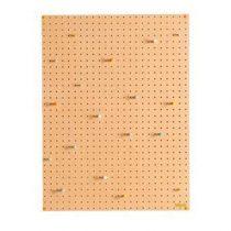 Block Pegboard Pinbord L Wanddecoratie & -planken Bruin Hout