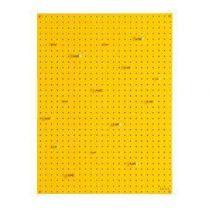 Block Pegboard Pinbord L Wanddecoratie & -planken Geel Hout
