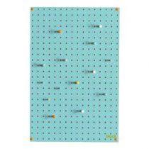 Block Pegboard Pinbord M Wanddecoratie & -planken Blauw Hout