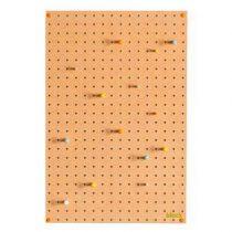 Block Pegboard Pinbord M Wanddecoratie & -planken Bruin Hout
