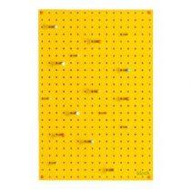Block Pegboard Pinbord M Wanddecoratie & -planken Geel Hout