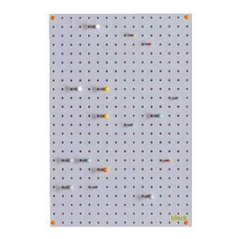 Block Pegboard Pinbord M Wanddecoratie & -planken Grijs Hout