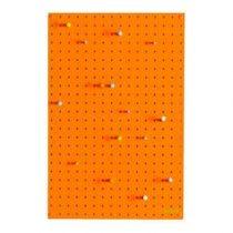Block Pegboard Pinbord M Wanddecoratie & -planken Oranje Hout