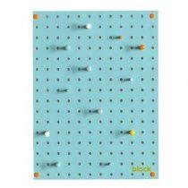 Block Pegboard Pinbord S Wanddecoratie & -planken Blauw Hout