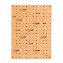 Block Pegboard Pinbord S Wanddecoratie & -planken Bruin Hout