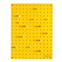 Block Pegboard Pinbord S Wanddecoratie & -planken Geel Hout