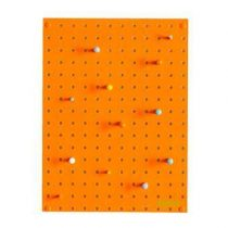 Block Pegboard Pinbord S Wanddecoratie & -planken Oranje Hout