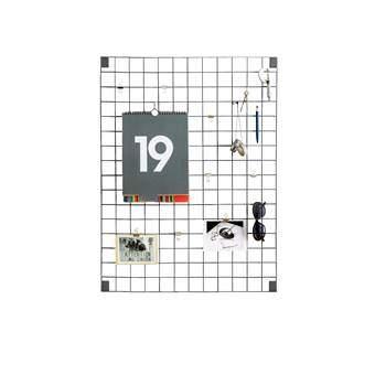 Block Wire Mesh Memobord Wanddecoratie & -planken Grijs Staal