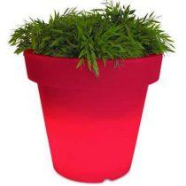 Bloom! Verlichte Bloempot 40 x Ø 44 cm Bloempotten Rood Kunststof