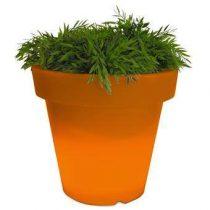 Bloom! Verlichte Bloempot 60 x Ø 66 cm Bloempotten Oranje Kunststof