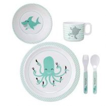 Bloomingville Axel Kinderservies Kinderservies & bestek Groen Melamine