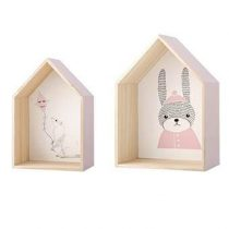 Bloomingville Display Box Set van 2 Baby & kinderkamer Beige Hout