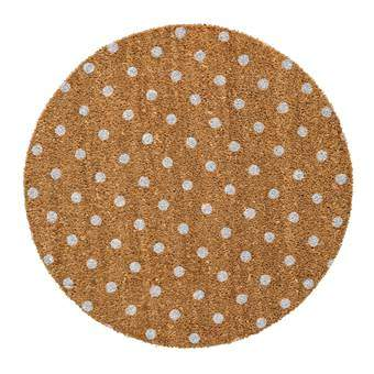 Bloomingville Dots Stippen Deurmat Hal accessoires Bruin Kunststof