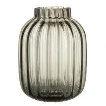 Bloomingville Grey Vaas Woonaccessoires Grijs Glas