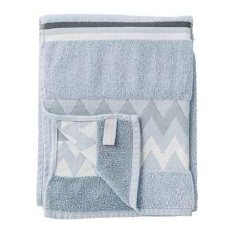 Bloomingville Handdoek 50 x 100 cm Badtextiel Blauw