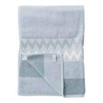 Bloomingville Handdoek 70 x 140 cm Badtextiel Blauw