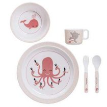 Bloomingville Ida Kinderservies Kinderservies & bestek Roze Melamine