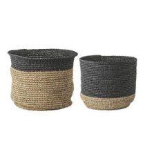 Bloomingville Manden Set van 2 Opbergen Beige Textiel