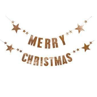 Bloomingville Merry Christmas Slinger Kerst accessoires Koper Papier