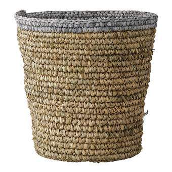 Bloomingville Naturel en Grijs Mand Opbergen Beige Textiel