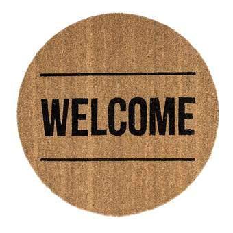 Bloomingville Welcome Cocos Deurmat Hal accessoires Bruin Kunststof