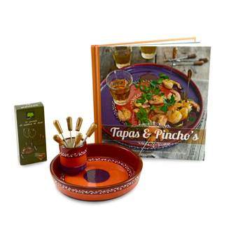 Bowls and Dishes SolO Tapas and Pincho's Giftset Servies Bruin Aardewerk