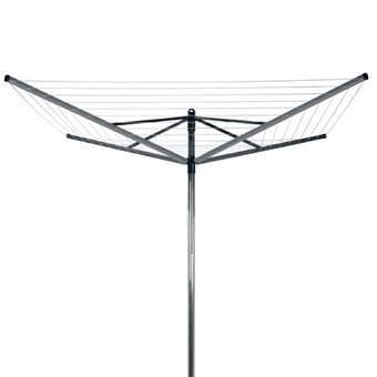 Brabantia Lift-O-Matic Droogmolen 50 m Droogmolens Zilver Kunststof