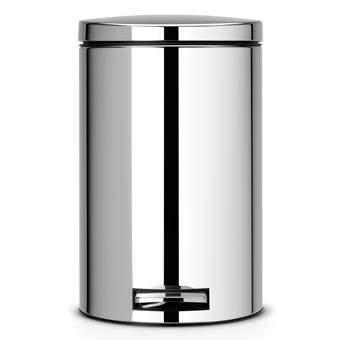 Brabantia MotionControl Pedaalemmer 12 L glans Afvalemmers Zilver Chroom