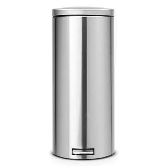 Brabantia MotionControl Pedaalemmer 30 L mat Afvalemmers Zilver Chroom