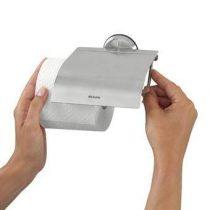 Brabantia RVS Toiletrolhouder met klep mat Toiletaccessoires Zilver Kunststof