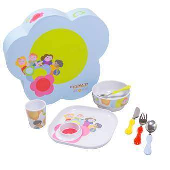 Bugatti Bloom Kinderservies 7-delig  Kinderservies & bestek Multicolor Kunststof