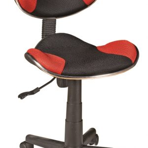 0.00 - Bureaustoel Atlas - Zwart met rood - Kantoorstoelen