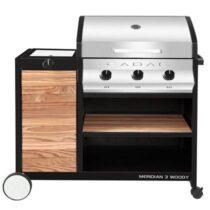 Cadac Meridian Woody 3B Buitenkeuken Barbecues Zilver Hout