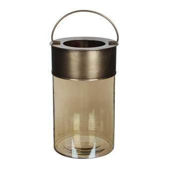 Casa Vivante Ciska Windlicht Woonaccessoires Koper Glas