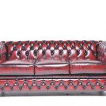 Chesterfield Original Brighton 3-zits Antiek Rood Banken Rood Hout