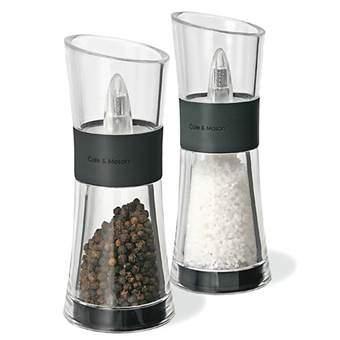Cole & Mason Inverta Flip Peper- en zoutmolenset Peper & zoutmolens Transparant RVS