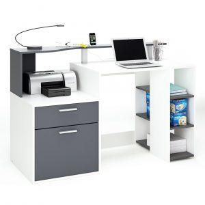 0.00 - Computer Bureau Dasty - Wit met Grijs - Kantoortafels