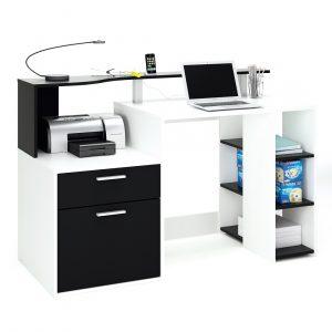 0.00 - Computer Bureau Dasty - Wit met zwart - Kantoortafels