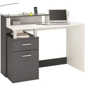 0.00 - Computer Bureau Dasty small - Wit met Grijs - Kantoortafels