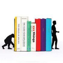 DOIY Boekensteun set Evolutie 2st Woonaccessoires Zwart Metaal