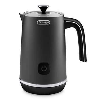 De'Longhi EMFI.BK Distinta Melkopschuimer Koffie Zwart RVS