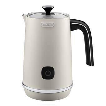 De'Longhi EMFI.W Distinta Melkopschuimer Koffie Wit RVS