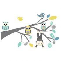 DecoDeco Safari Tak Muursticker Baby & kinderkamer Blauw Kunststof