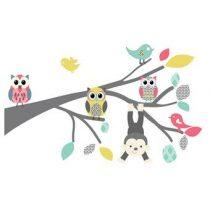 DecoDeco Safari Tak Muursticker Baby & kinderkamer Roze Kunststof