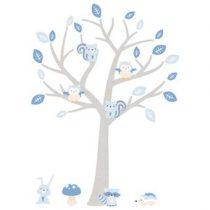 DecoDeco Woodland Boom Muursticker Baby & kinderkamer Blauw Kunststof