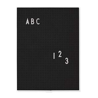 Design Letters Letterboard A4 Zwart Wanddecoratie & -planken Zwart Kunststof