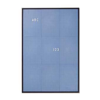 Design Letters Letterbord A2 Blauw Wanddecoratie & -planken Blauw Kunststof