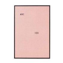 Design Letters Letterbord A2 Roze Wanddecoratie & -planken Roze Kunststof
